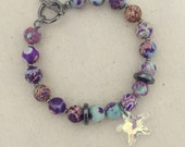 Seaside Crystal Bracelet - Gunmetal Hardware - Summer Collection