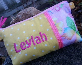 Butterfly  Pencil Case, Girl's School Supply Bag