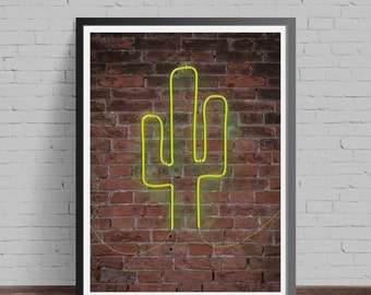 Neon cactus print