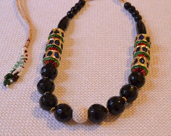 Bead Kantha Style Necklace