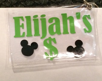 Personalized Disney card holder