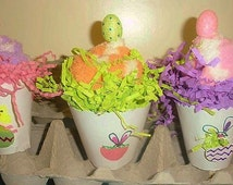 Easter Cupcake Socks-Fuzzy Socks-Party Favor-Office Party -Gift-Thoughtful Gift-bunny-Eggs-green cupcake-party supplies-