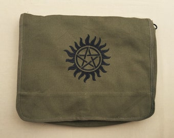 Supernatural Embroidered Messenger Bag (Home Embroidered)