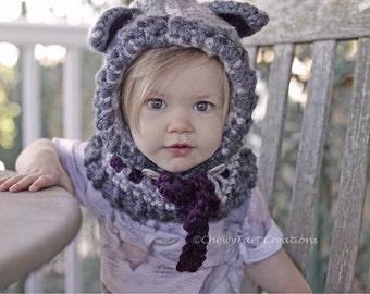 Crochet Woodlynn Wolf  Hood