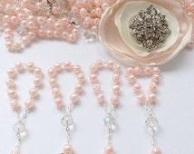 10%off weekend sale 110 pcs Angel Decade Rosaries, Mini Rosaries, Pearl First communion favors Recuerditos Bautizo 110pz/ Mini Pearl Rosary