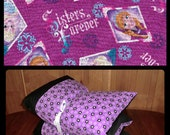 Frozen Pillow Bed, Nap Mat with FROZEN fabric, Girl Pillow Bed, Children's Pillow Bed, Pillow Mattress, Sleepover Bed