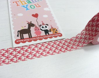 Crazy Sales : Red Star Star Washi / Masking Tape - 10M