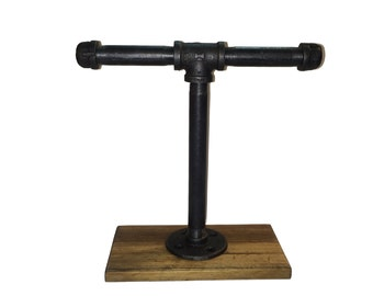 Industrial Pipe Jewelry Stand, Industrial Chic, Rustic Jewelry Stand.