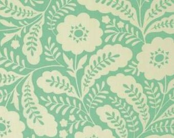 Heather Bailey Clementine 'Primrose' in Turquoise Cotton Fabric