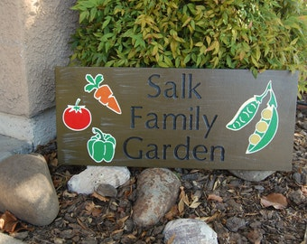Rustic Garden Engraved Family Outdoor Sign, Garden Sign, Fathers Day Gift