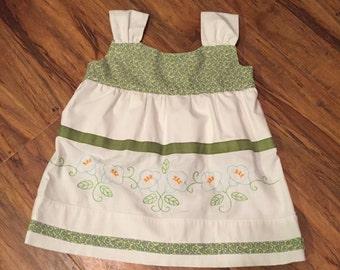 Vintage pillowcase dress size 1