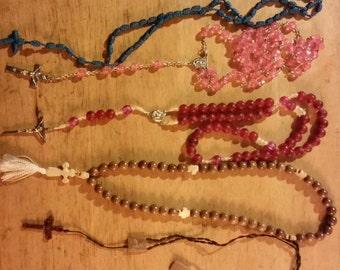 Set of 5 vintage rosaries
