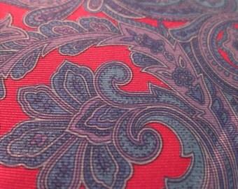 Italian Silk Tie Blue Red Paisley Silk Tie Lavender ITALY - medium width