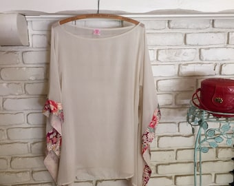 Oriental Silk Blouse