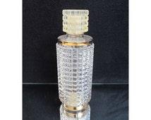 Vintage Avon Rapture Perfume bottle, eau de cologne bottle, Screwable lid, Glass clear Bottle, collection Height 5.5 in / 14 cm