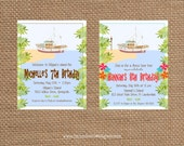 GILLIGAN's ISLAND + BOAT Birthday + Adult + Summer + Retirement Invitation - Full Service Printing and Coordinating Items Available