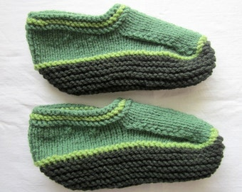 Mint green Wool Woman slipper Knitted slippers slippers  socks Knit, christmas gift, mother day gift, mother from daughter gift