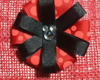 Loopy Flower withMouse Ribbon Hair Clip