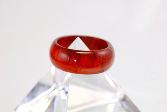 Padouk wooden ring