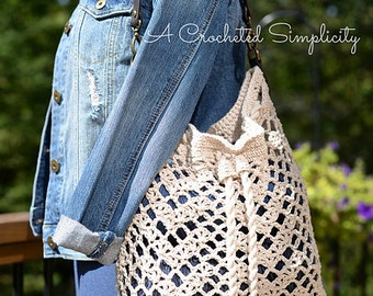 Crochet Pattern: Chevron Chic Tote Bag, Permission to Sell Finished Items