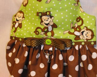 "the ""laughing"" monkey dress"