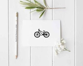 Digital Printable Notecard Retro Bike Black and White