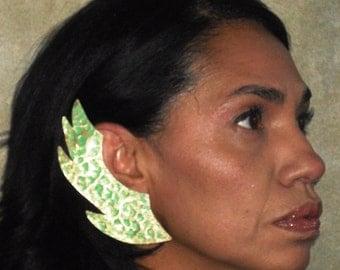 African Jade Patina earrings Tribal Earrings