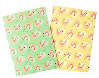 Greeting Card: Prawn, 2 colours available