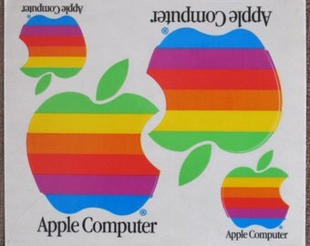 Original Apple Computer Stickers 80's