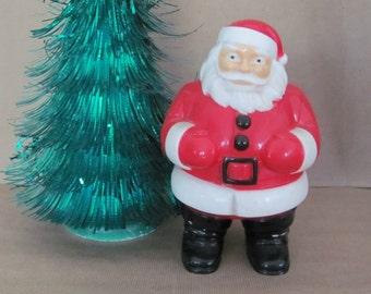 Vintage Christmas Decoration, Santa, 1960's Santa Figurine, Plastic Santa, Kitsch, General Products, 1960's Christmas Decor, Mid Century