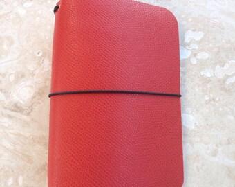 PocketJot- Pumpkin Spice - Leather Traveler's Notebook/Fauxdori
