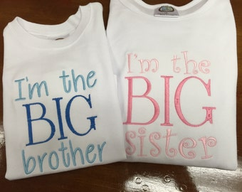 Big brother and little sister shirts