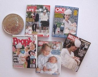 dollhouse royal baby christening  magazines x 5 lakeland artist