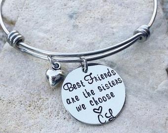 Best Friend - Best Friend Jewelry - Sister Jewelry - Sister Necklace - Sister Bracelet - Sister Gift - Friend Gift