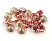 Swarovski 39ss 1088 Rose Peach Xirius Chatons 8mm Crystal