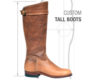Custom Tall Leather Boots