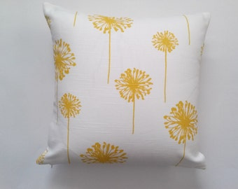 Yellow Dandelion Pillow Cover, Yellow/White Dandelion Decorative Pillow Cover