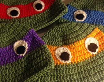 TMNT Inspired Crochet Hats Qty 1