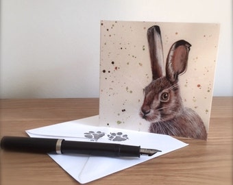 Hartley Hare card and tag.