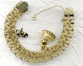 12K GF Charm Bracelet with Safety Chain/ Sale was 42.00