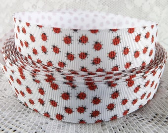 Ladybug ribbon 7/8 ladybug grosgrain ribbon lady bug ribbon