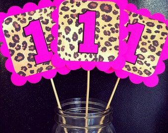 Pink Leopard Animal Print Birthday Banner, Leopard Party, Cheetah Party, Leopard Birthday, Cheetah Party, Leopard Decorations