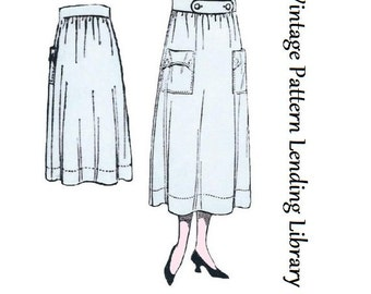 1918 Ladies Two Piece Skirt - Reproduction Sewing Pattern #E0129