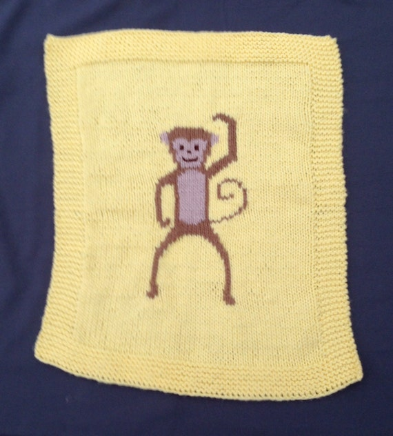 Knitting Needles Norwich : Monkey baby blanket pram cover chunky knitting pattern