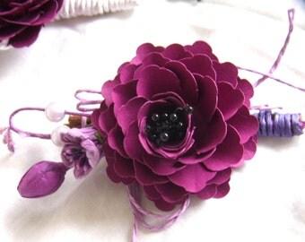 Wedding Paper flower Boutonniere/ Wedding Buttonhole/ Paper Flower Buttonhole/ Paper Flower Boutonniere/ Wedding Flowers