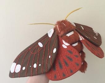 Royal Walnut Moth Soft Sculpture