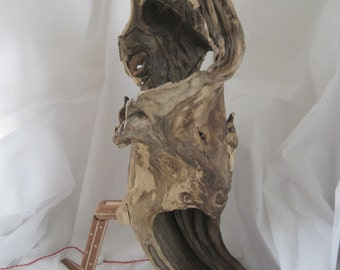 Driftwood hollow log lamp