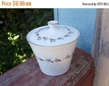 On Sale Strafito Connoisseur Fine China by Sango Carillon Pattern Sugar Bowl Vintage Kitchen Made in Japan