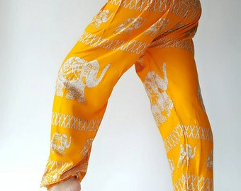 SM0120 Thai Genie Pants Comfy Trouser, Gypsy Pants Rayon Pants,Aladdin Pants Maxi Pants Boho Pants