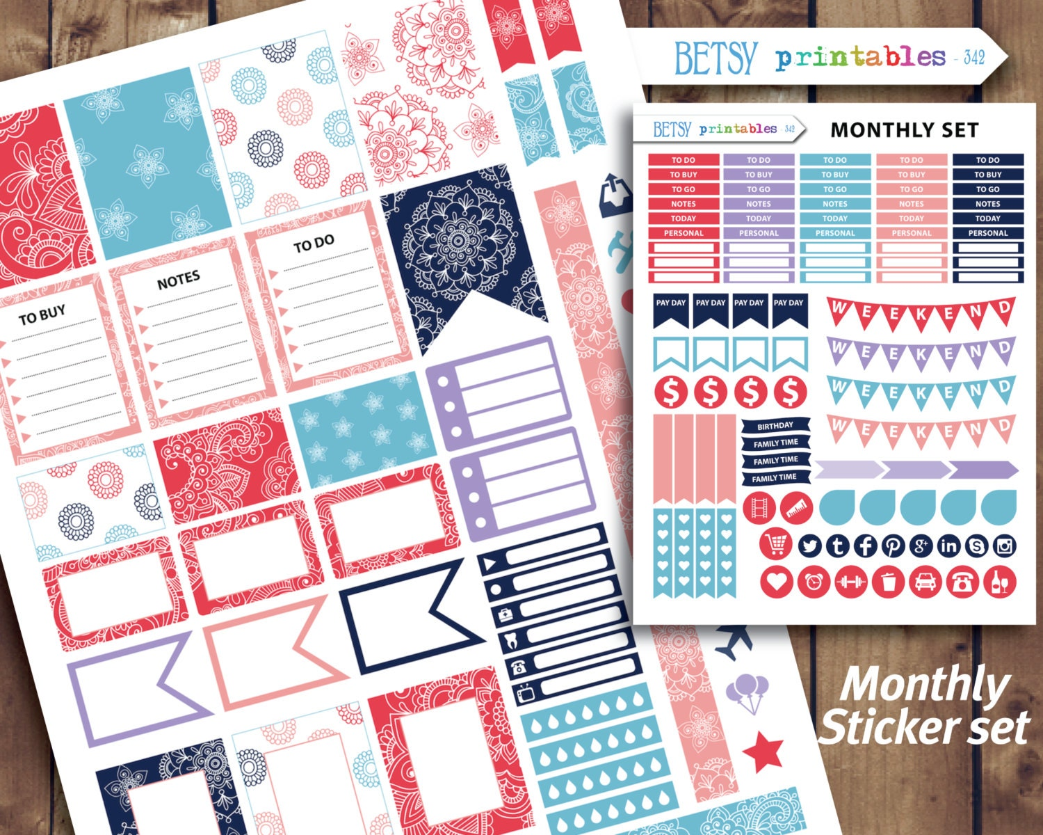 It is a graphic of Clean Erin Condren Printable Stickers